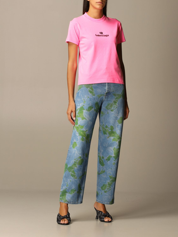T-Shirt Balenciaga: T-shirt women Balenciaga pink 2