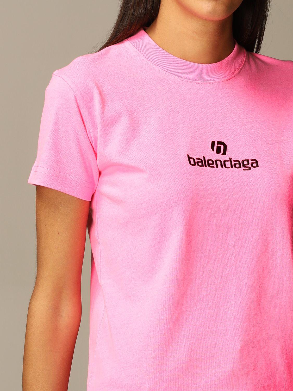 T-Shirt Balenciaga: T-shirt women Balenciaga pink 4