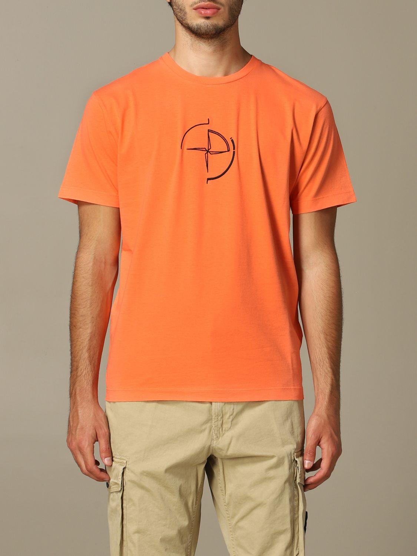 T恤 男士 Stone Island 橙色 1