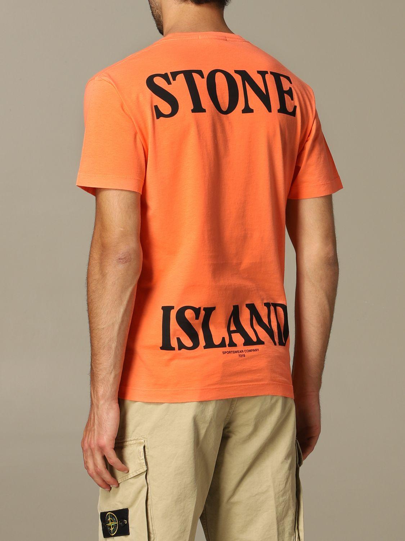 T恤 男士 Stone Island 橙色 2
