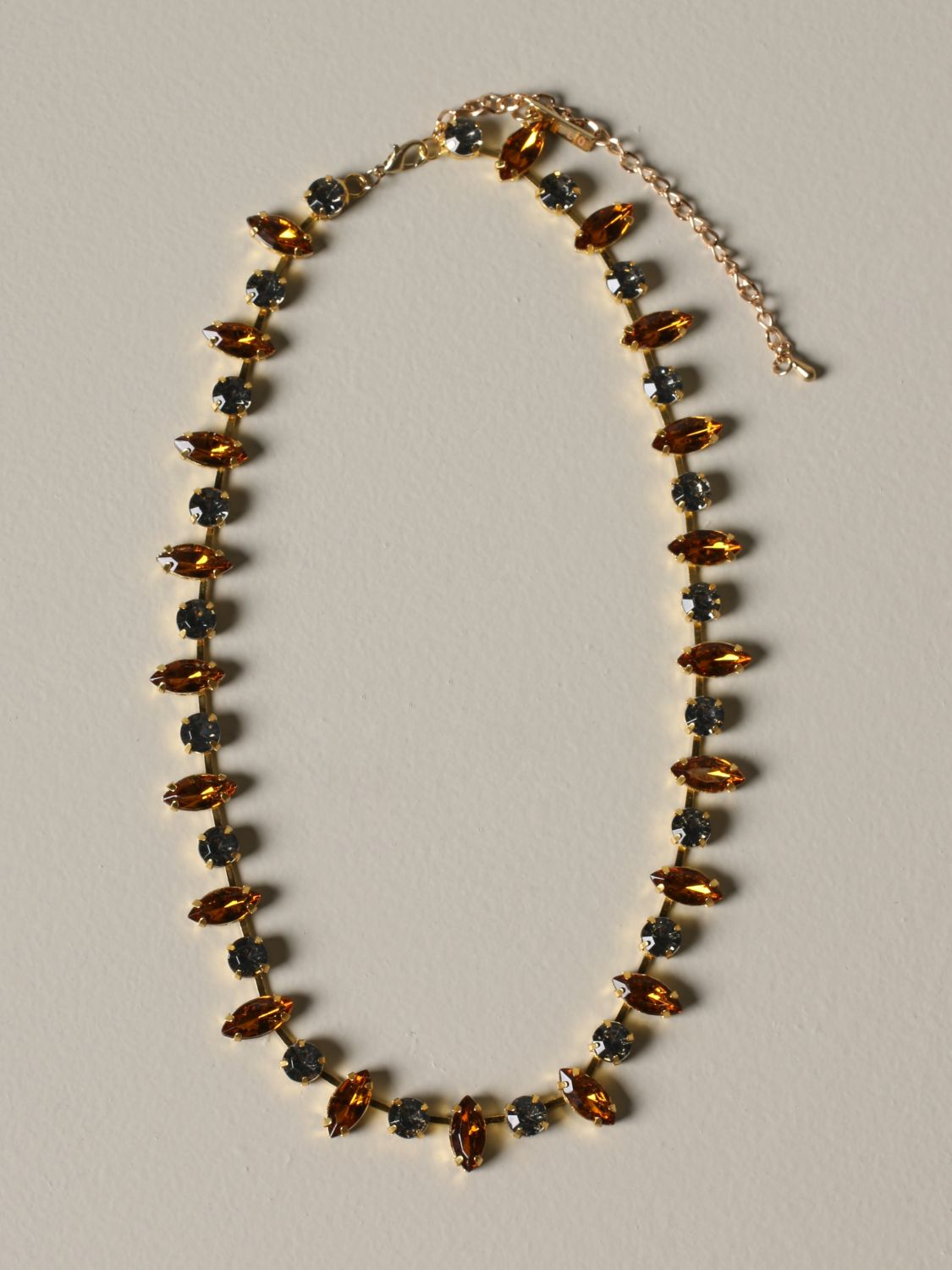 Jewel Allujewels: Allu'jewels Miuccia metal necklace grey 1