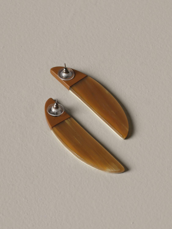 Gioielli Allujewels: Orecchini a banana Allu'jewels effetto bicolor marrone 2
