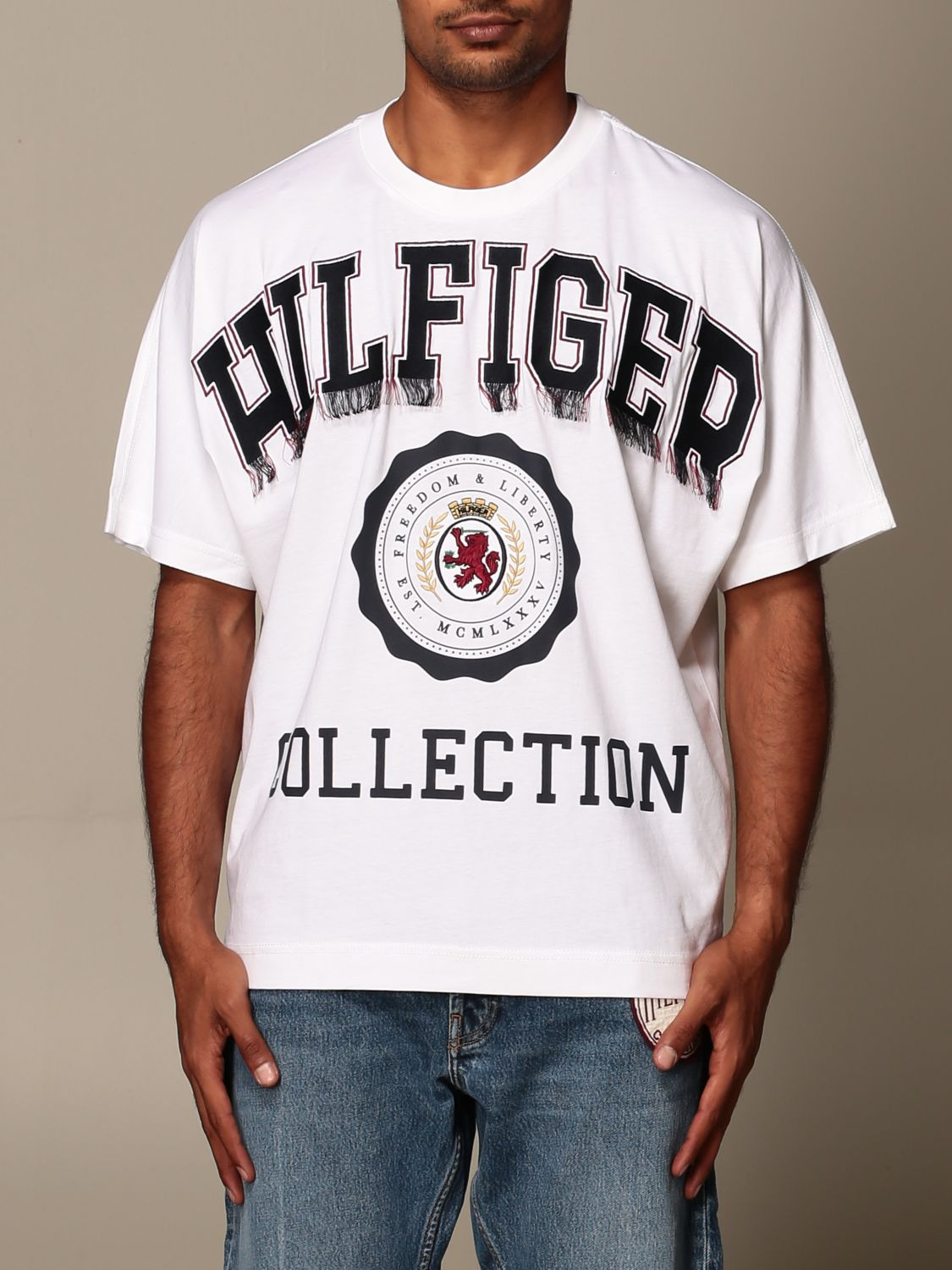 T-Shirt Hilfiger Collection: T-shirt herren Hilfiger Collection weiß 1