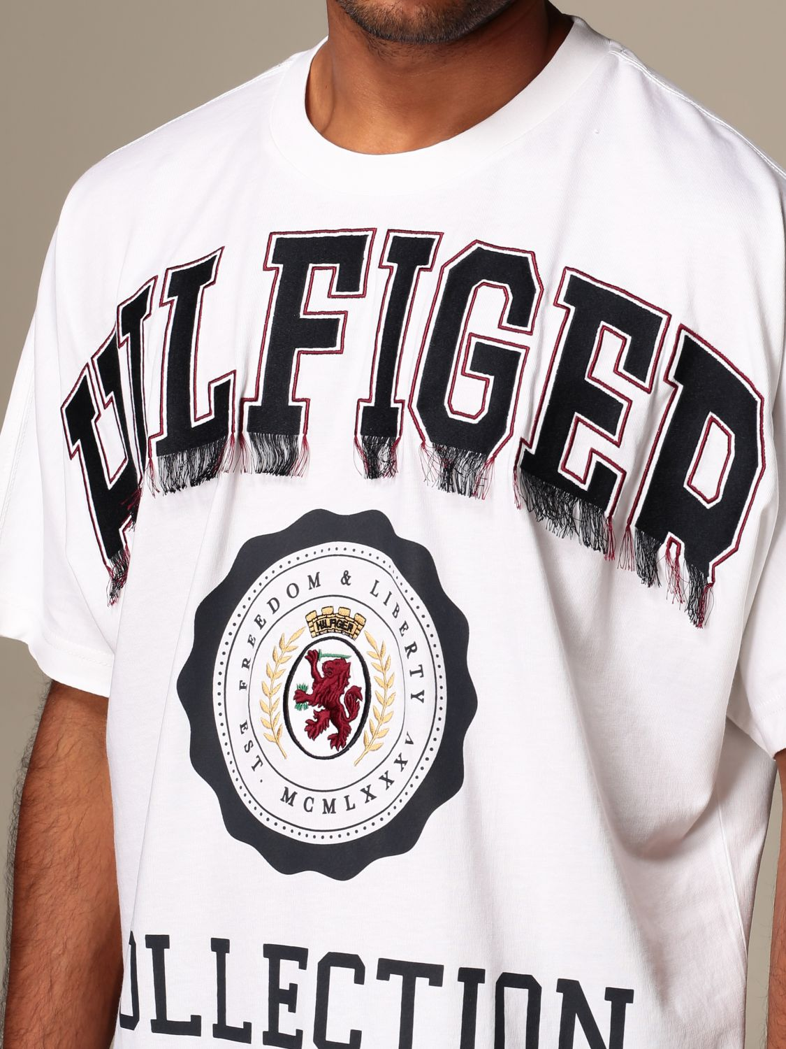 T-Shirt Hilfiger Collection: T-shirt herren Hilfiger Collection weiß 4