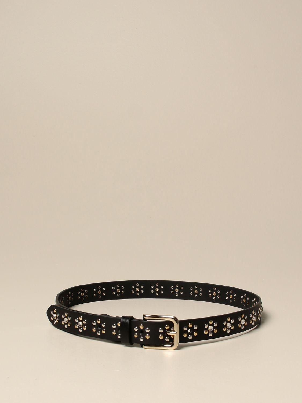 Belt Hilfiger Collection: Hilfiger Collection leather belt with studs black 1