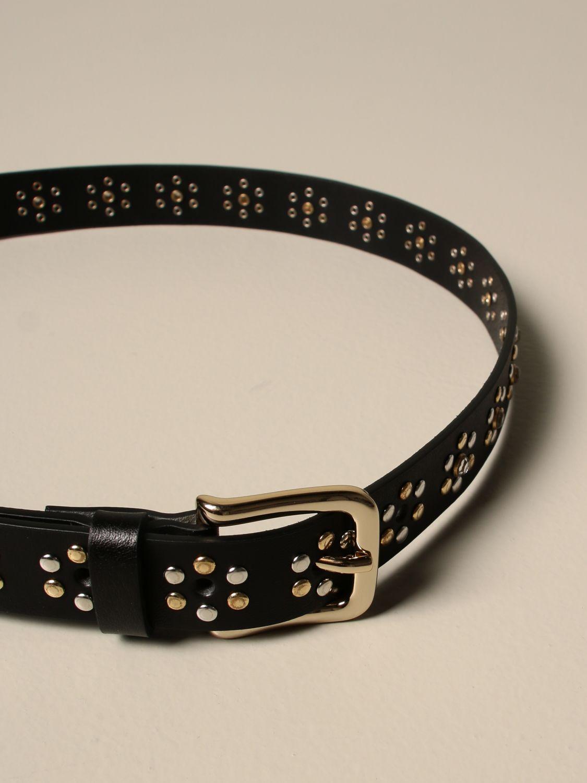 Belt Hilfiger Collection: Hilfiger Collection leather belt with studs black 2