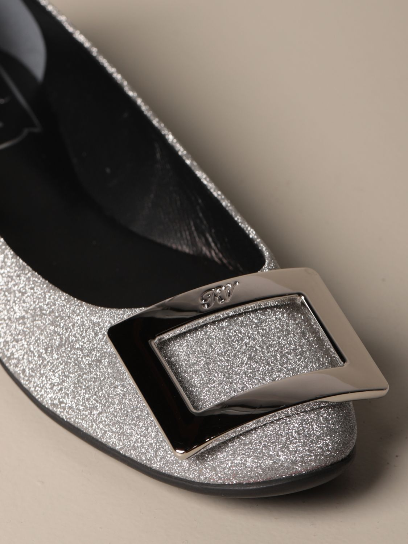 women's clinton glitter ballet flat