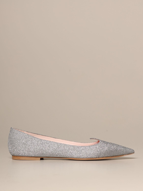 балетки Roger Vivier: Обувь Женское Roger Vivier серебряный 1