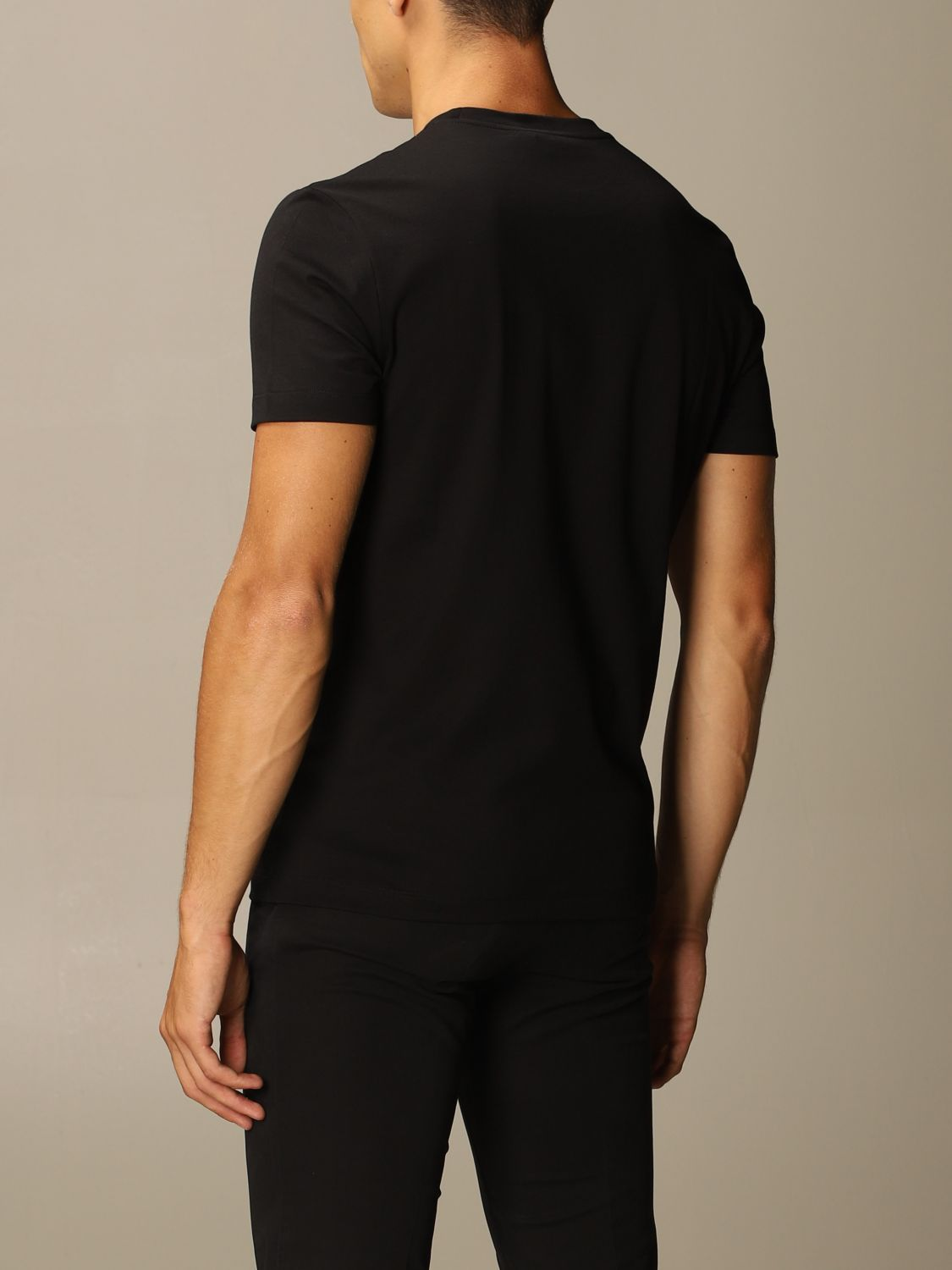 T-shirt Versace: Versace T-shirt with masculine and romantic logo black 2