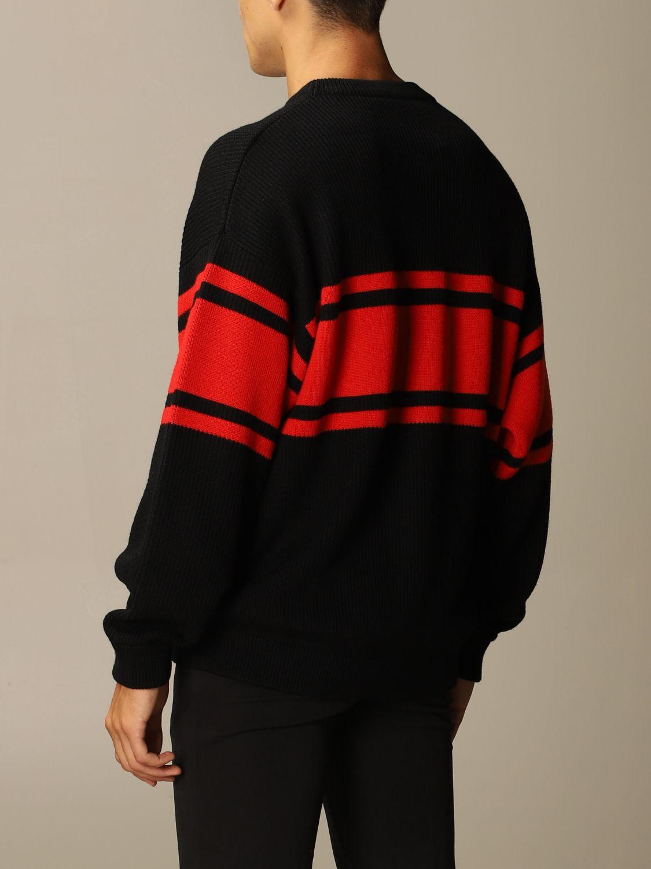 Maglia Versace: Pullover Versace in lana con logo Medusa in jacquard nero 2