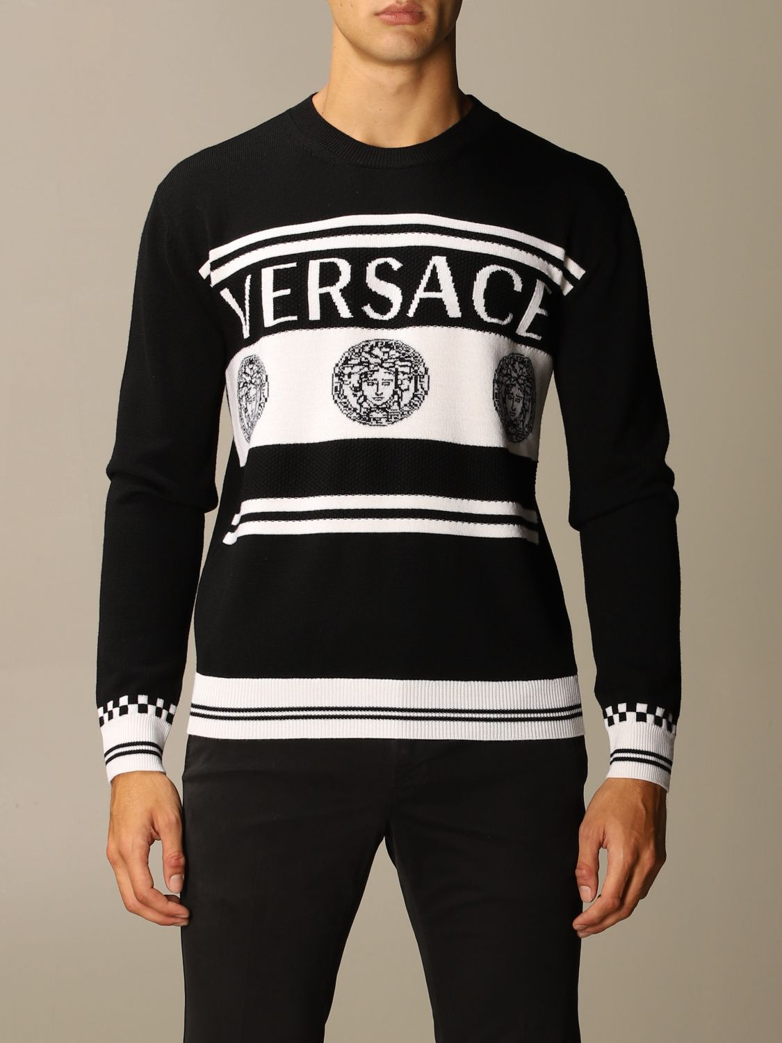 Jumper Versace: Jumper men Versace black 1