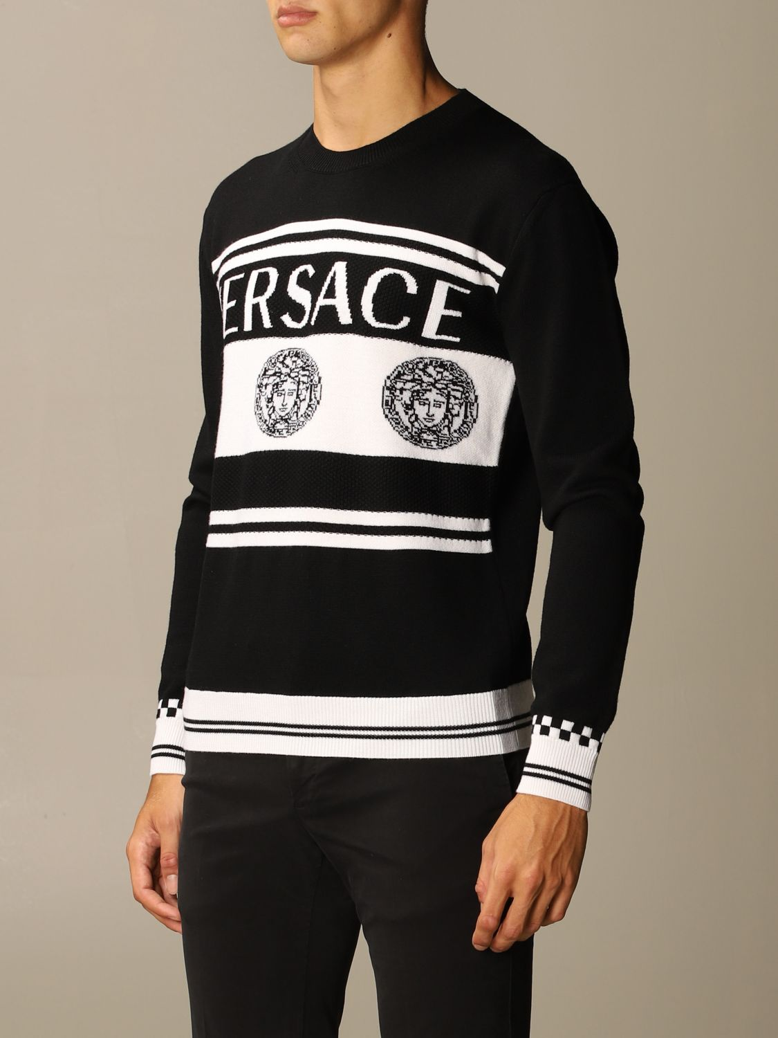 Jumper Versace: Jumper men Versace black 3