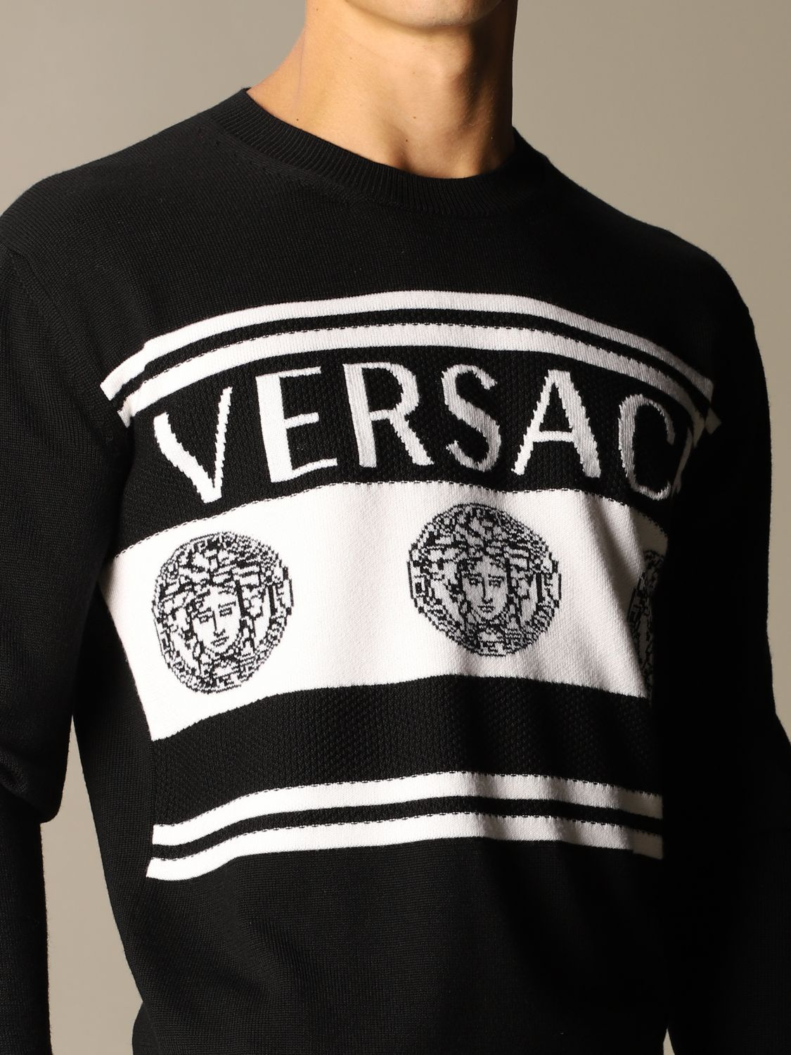 Jumper Versace: Jumper men Versace black 4