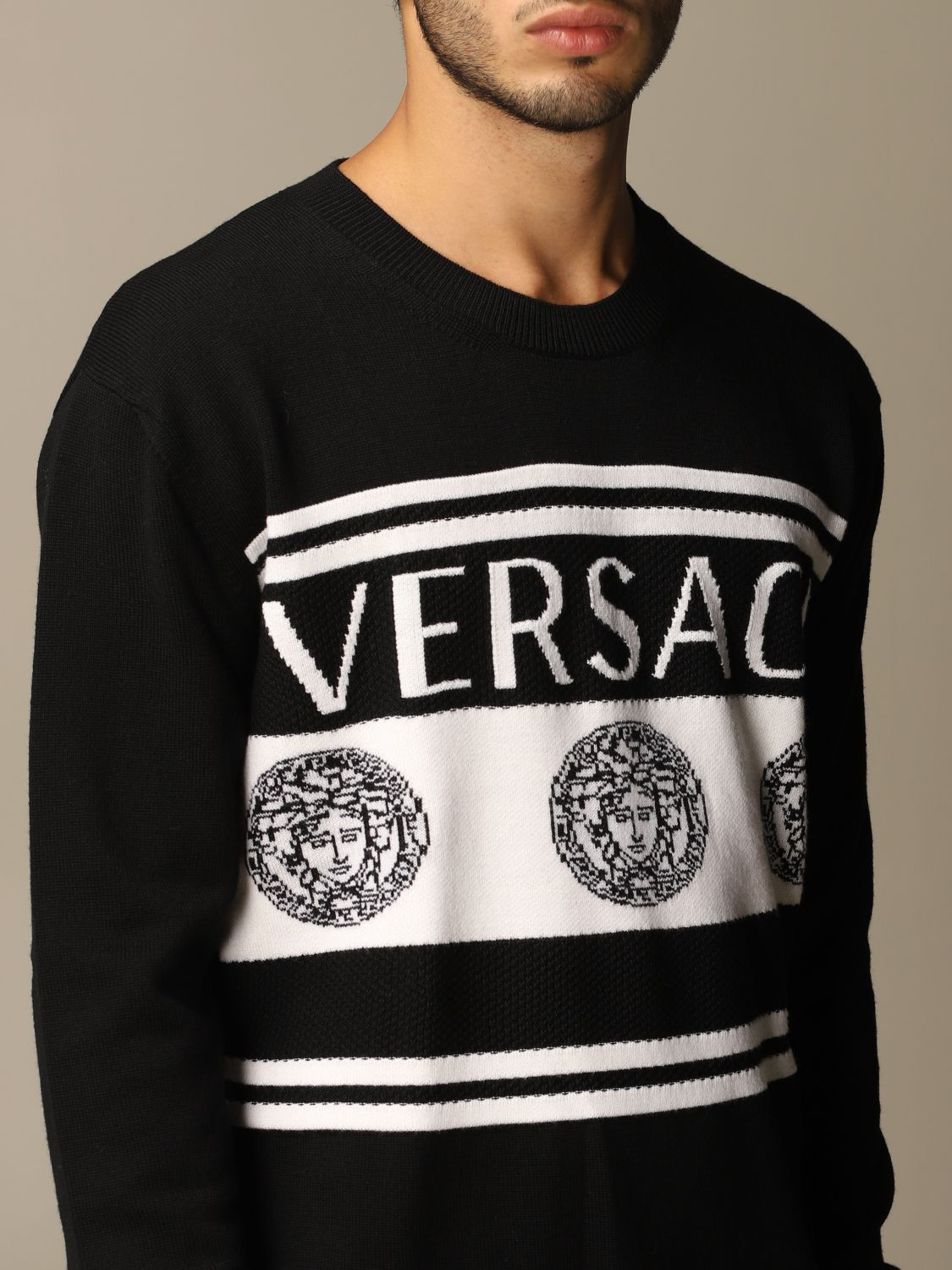 Jumper Versace: Jumper men Versace black 5