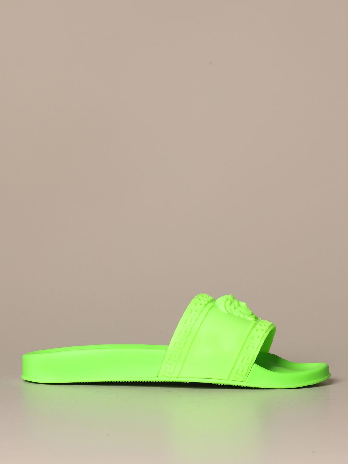 Palazzo Versace sandal in fluo rubber