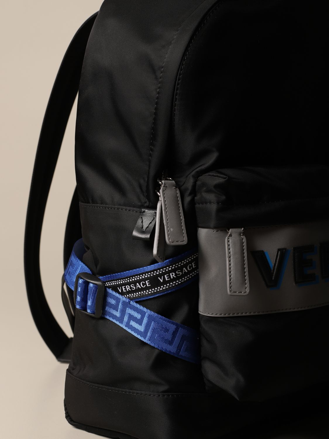 Backpack Versace: Bags men Versace black 4
