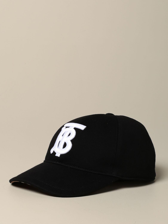 Hat Burberry: Burberry baseball cap with TB logo black 1