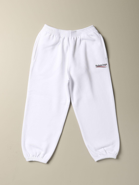 Pantalone Balenciaga: Pantalone Political Campaign Balenciaga in cotone bianco 1
