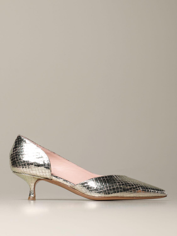 Court shoes Anna F.: Shoes women Anna F. platinum 1