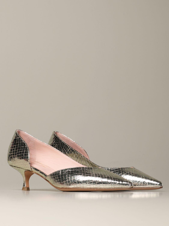 Court shoes Anna F.: Shoes women Anna F. platinum 2