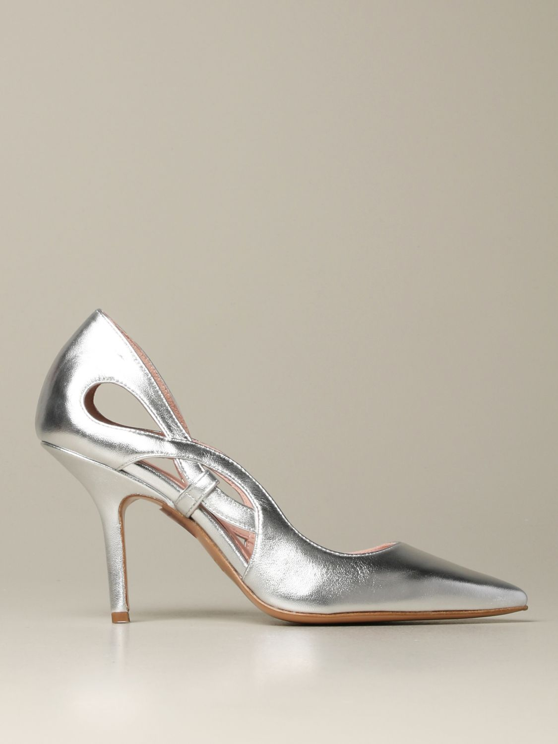 Court shoes Anna F.: Shoes women Anna F. silver 1