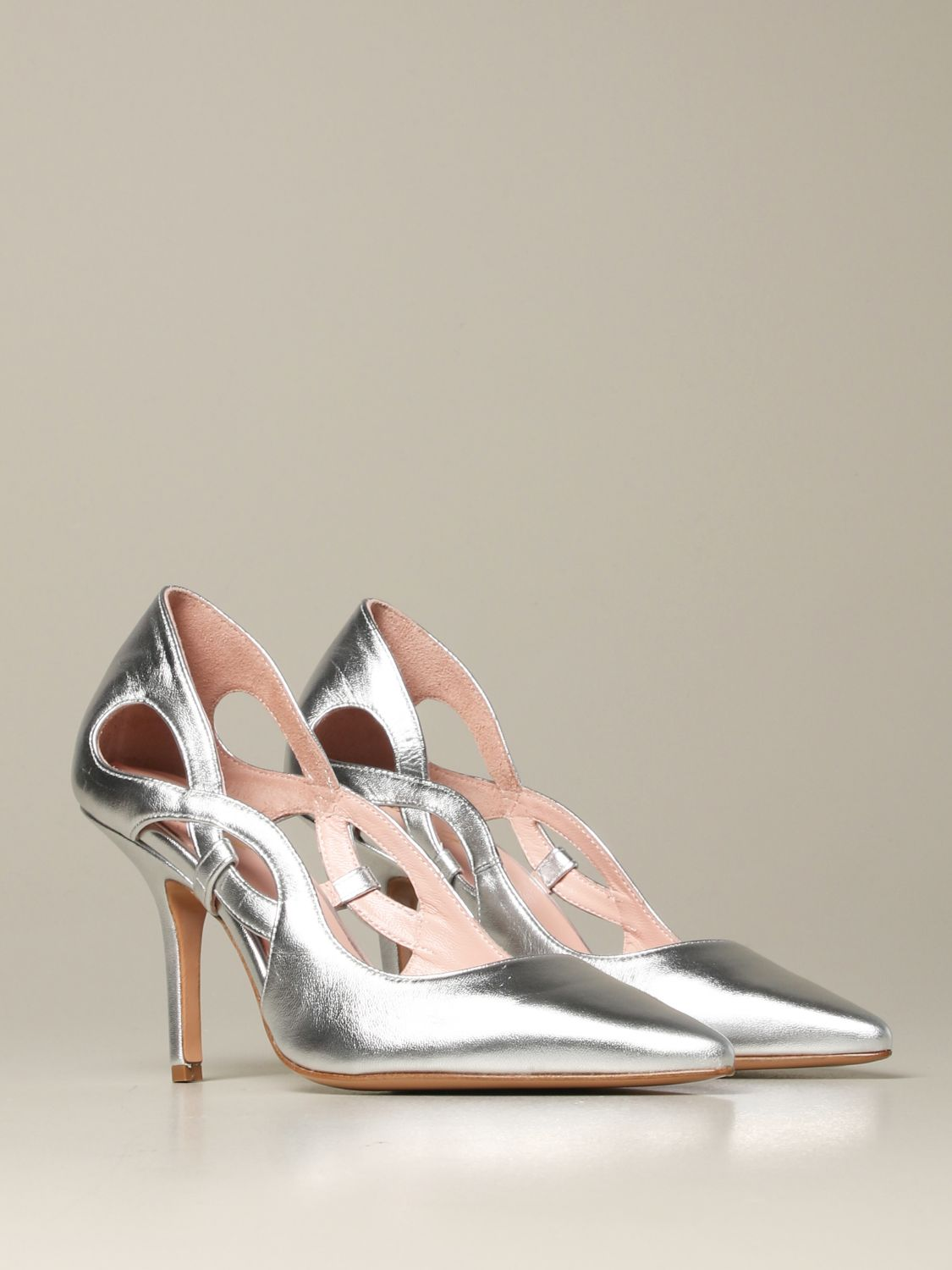 Court shoes Anna F.: Shoes women Anna F. silver 2