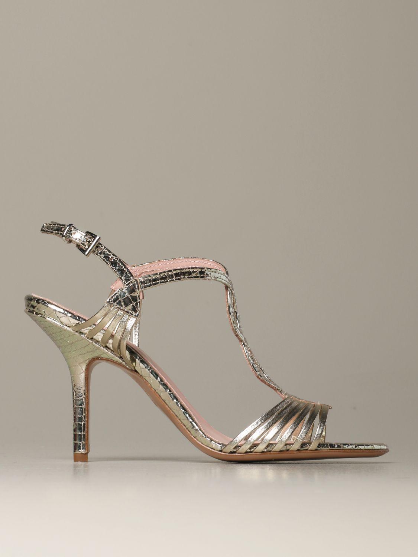 Heeled sandals Anna F.: Shoes women Anna F. platinum 1