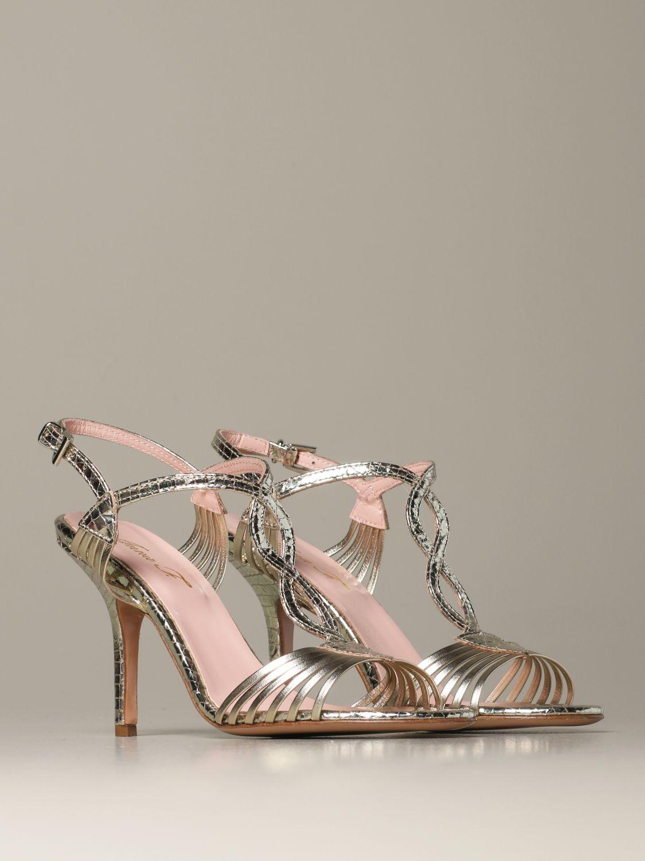 Heeled sandals Anna F.: Shoes women Anna F. platinum 2