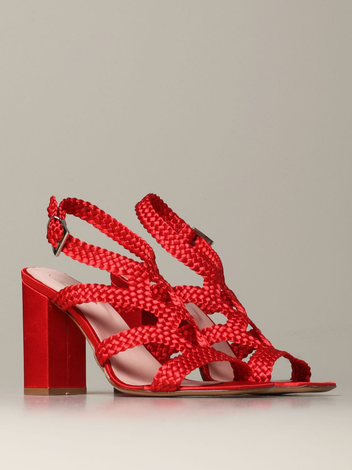 Heeled sandals Anna F.: Shoes women Anna F. red 2