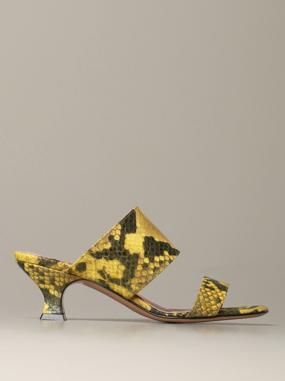 Heeled sandals Anna F.: Shoes women Anna F. yellow 1