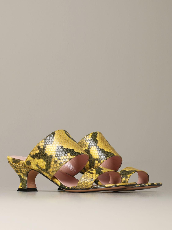 Heeled sandals Anna F.: Shoes women Anna F. yellow 2