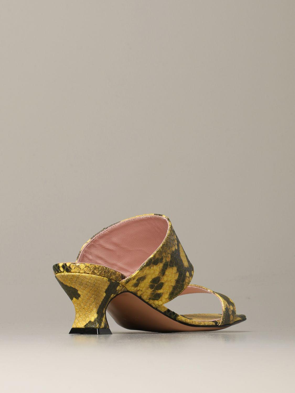 Heeled sandals Anna F.: Shoes women Anna F. yellow 3