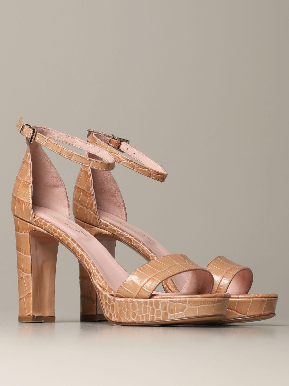 Heeled sandals Anna F.: Shoes women Anna F. brown 2