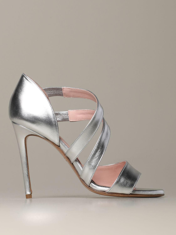 Heeled sandals Anna F.: Shoes women Anna F. silver 1