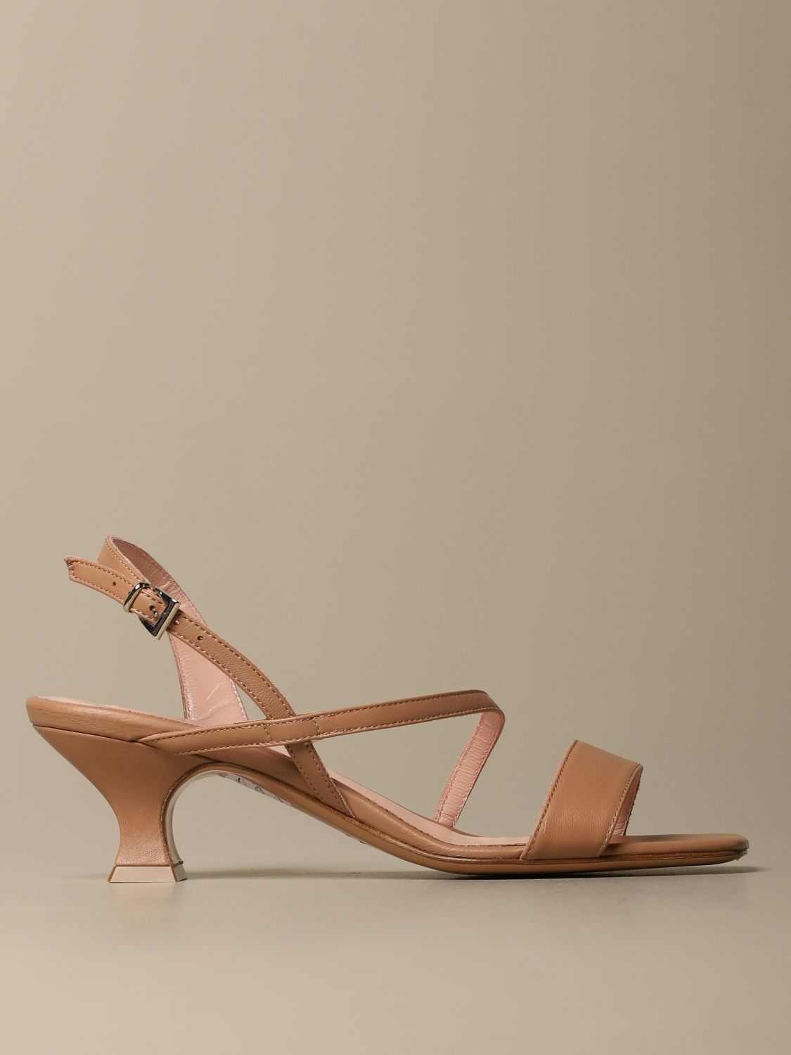 Heeled sandals Anna F.: Shoes women Anna F. leather 1