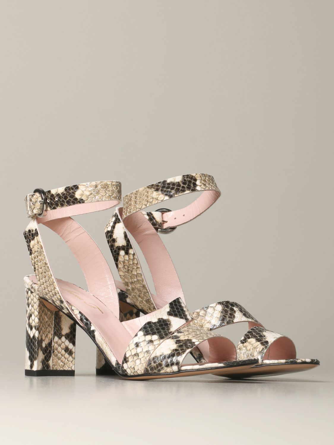 Heeled sandals Anna F.: Shoes women Anna F. sand 2