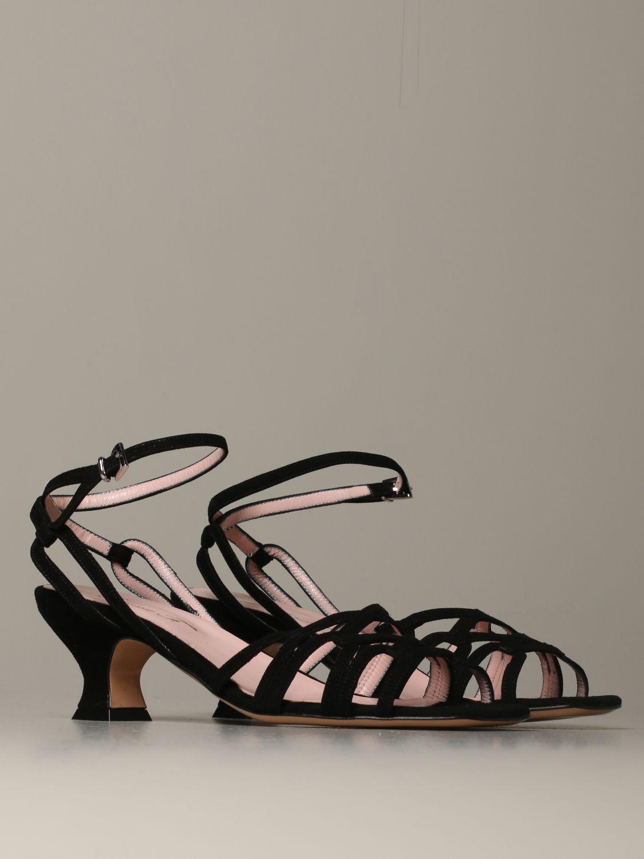 Heeled sandals Anna F.: Shoes women Anna F. black 1 2