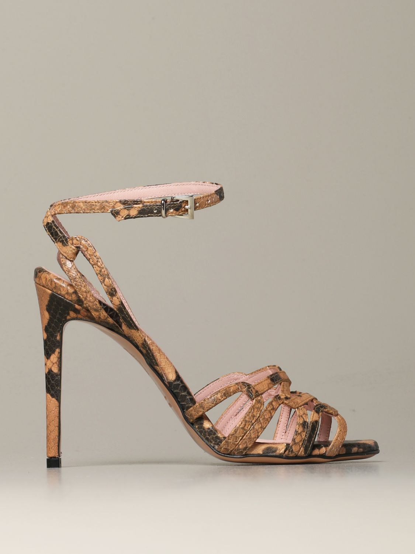 Heeled sandals Anna F.: Shoes women Anna F. camel 1