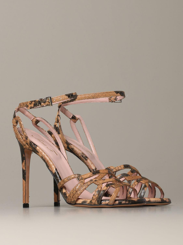 Heeled sandals Anna F.: Shoes women Anna F. camel 2