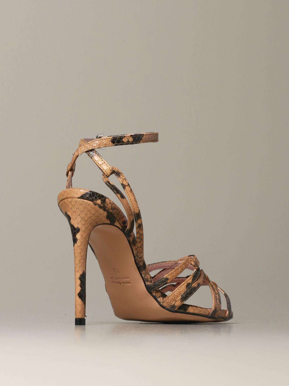 Heeled sandals Anna F.: Shoes women Anna F. camel 3