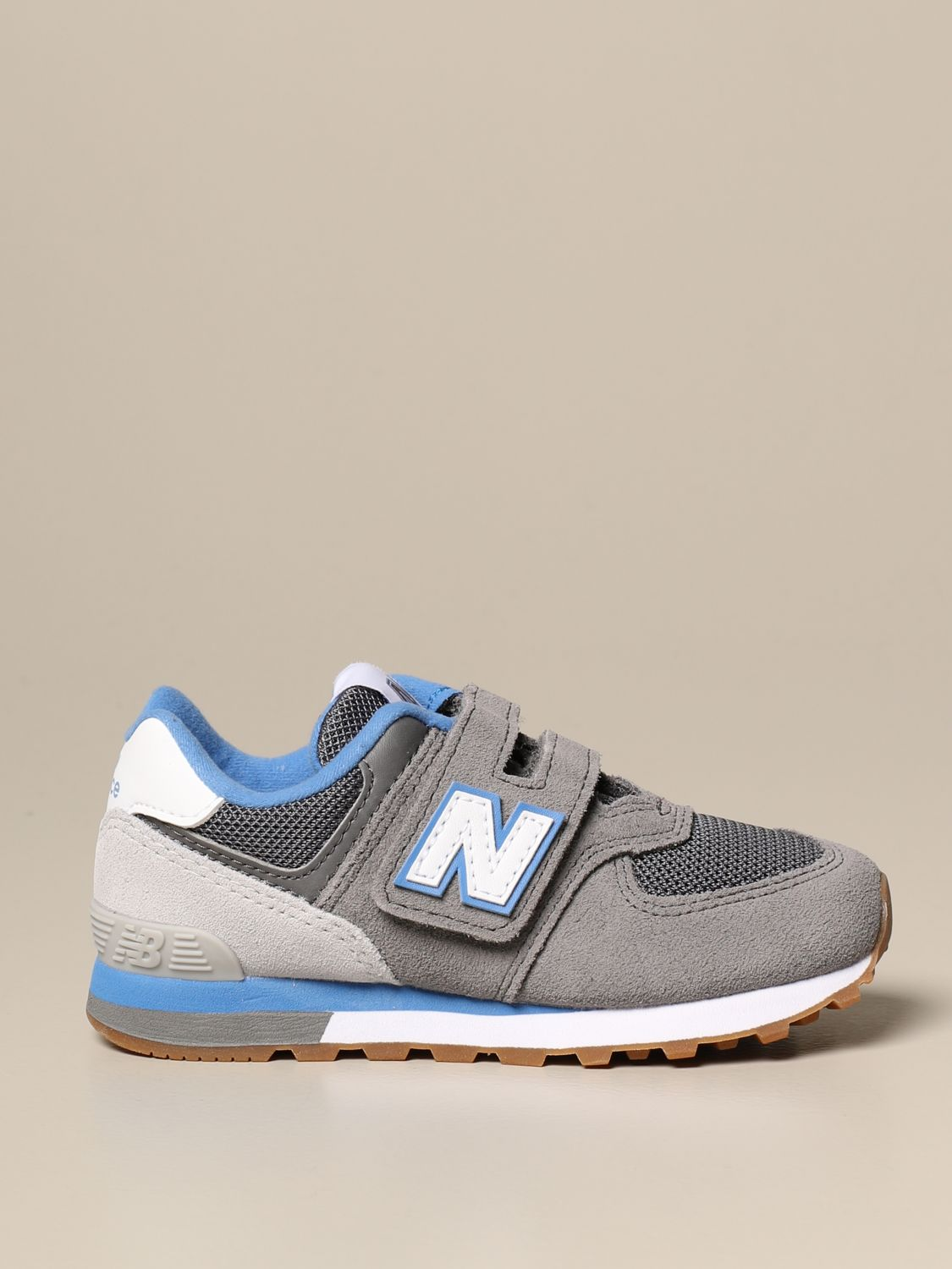 Sneakers 574 Sport Pack New Balance in camoscio e mesh