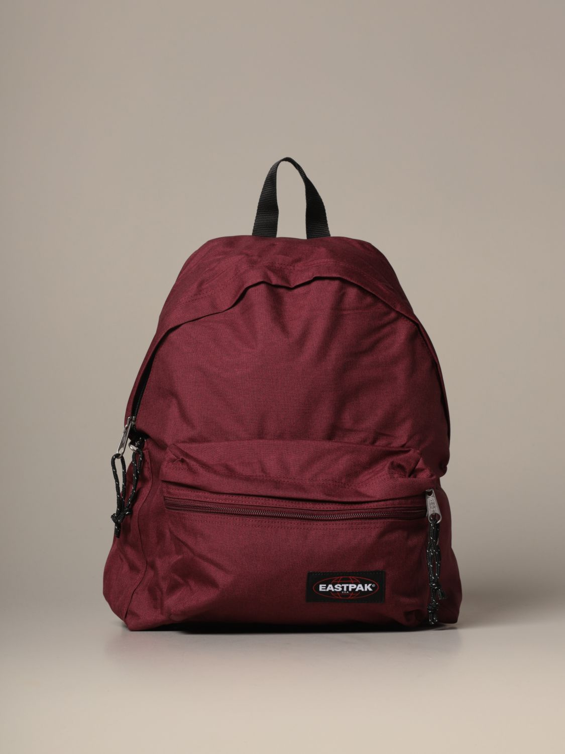 Backpack Eastpak: Padded Zippl'r Eastpak backpack in light canvas with logo burgundy 1