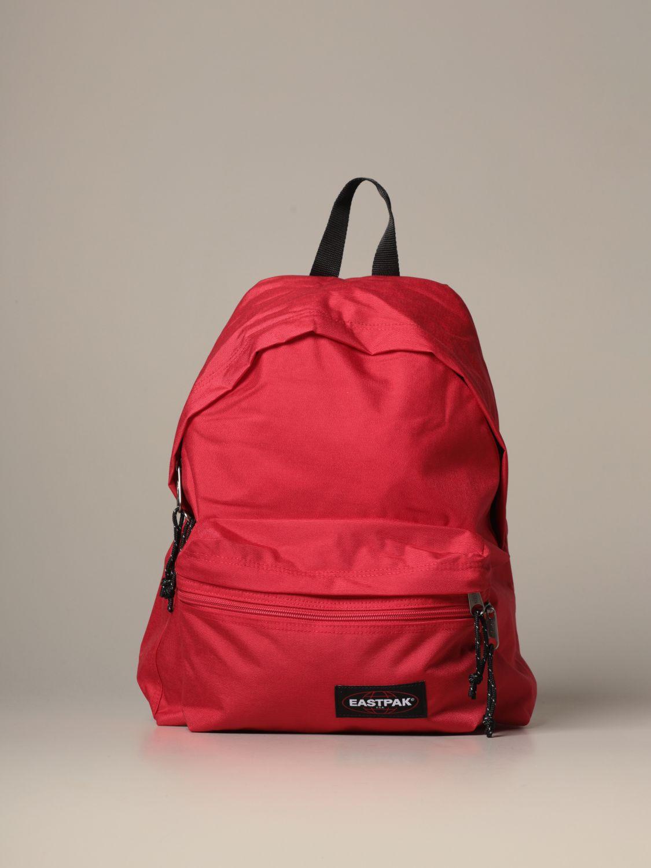Backpack Eastpak: Padded Zippl'r Eastpak backpack in canvas with logo red 1
