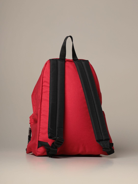 Backpack Eastpak: Padded Zippl'r Eastpak backpack in canvas with logo red 2