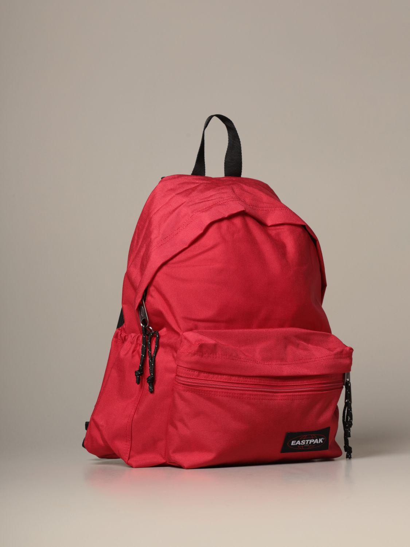 Backpack Eastpak: Padded Zippl'r Eastpak backpack in canvas with logo red 3