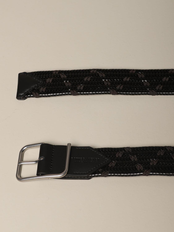Belt Bottega Veneta: Bottega Veneta belt in woven and stretch leather black 2