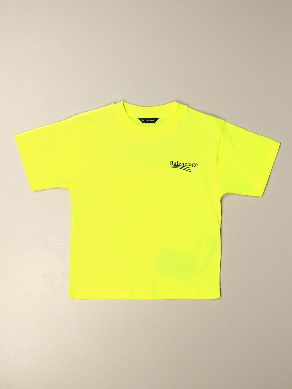 T-shirt Balenciaga: T-shirt Political Campaign Balenciaga con logo giallo 1