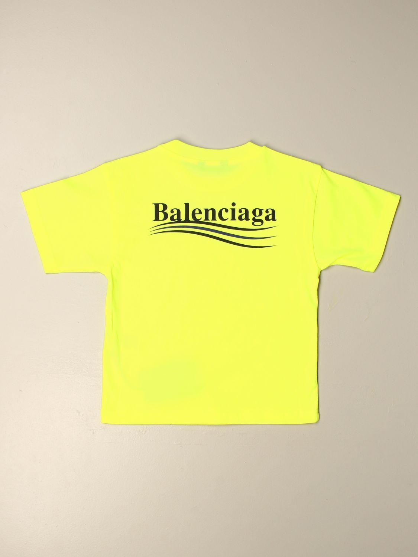 T-shirt Balenciaga: T-shirt Political Campaign Balenciaga con logo giallo 2