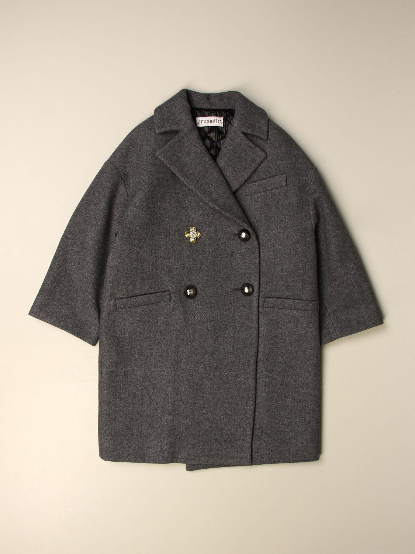 Cappotto Simonetta: Cappotto doppiopetto antracite 1