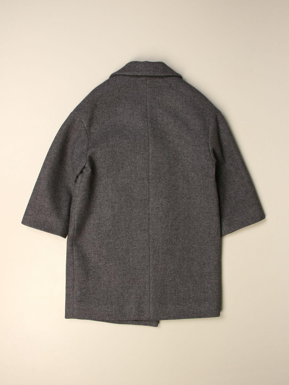 Cappotto Simonetta: Cappotto doppiopetto antracite 2